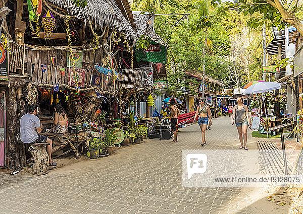 Walking Street in Railay  Ao Nang  Krabi Province  Thailand  Southeast Asia  Asia