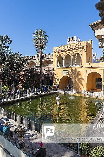 Alcazar Gardens  UNESCO World Heritage Site  Seville  Andalusia  Spain  Europe