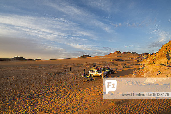 Expedition jeep in Northern Chad  Africa