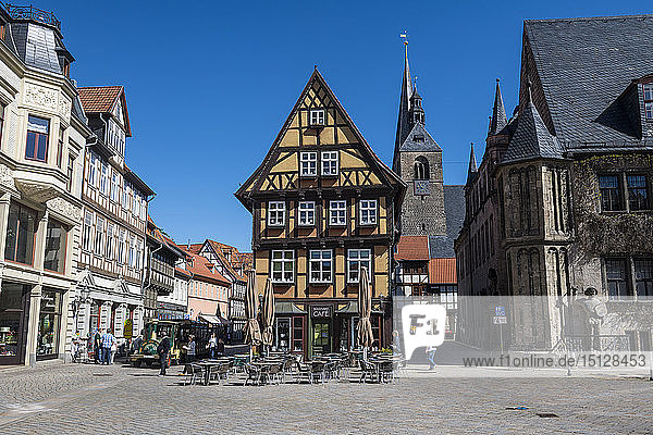 The town of Quedlinburg,  UNESCO World Heritage Site,  Saxony-Anhalt,  Germany,  Europe
