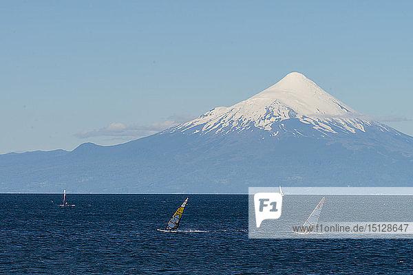 Llanquihue and Volcan Osorno  Puerto Varas  Chilean Lake District  Los Lagos  Chile  South America