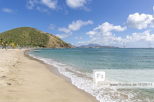 View of Frigate Bay Beach  Basseterre  St. Kitts and Nevis  West Indies  Caribbean  Central America