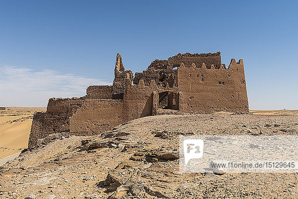 Old ksar  old town in the desert  near Timimoun  western Algeria  North Africa  Africa