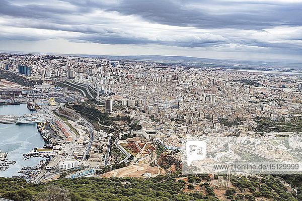 View over Oran  Algeria  North Africa  Africa
