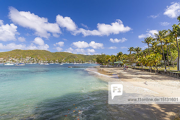 The beach at Port Elizabeth  Admiralty Bay  Bequia  The Grenadines  St. Vincent and the Grenadines  Windward Islands  West Indies  Caribbean  Central America