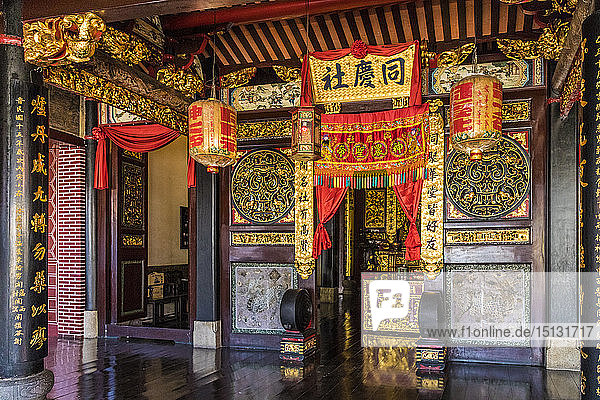 Hock Teik Cheng Sin temple in George Town  UNESCO World Heritage Site  Penang Island  Malaysia  Southeast Asia  Asia