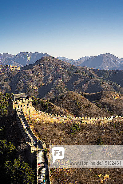 The Badaling section of the Great Wall of China in winter  UNESCO World Heritage Site  Badaling  China  Asia