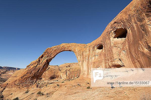 Corona Arch and Bootlegger Canyon  Moab  Utah  United States of America  North America