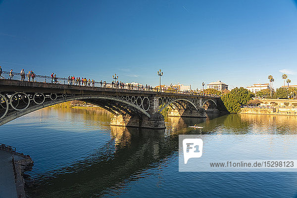 Puente de Triana on Guadalquivir River  Seville  Spain