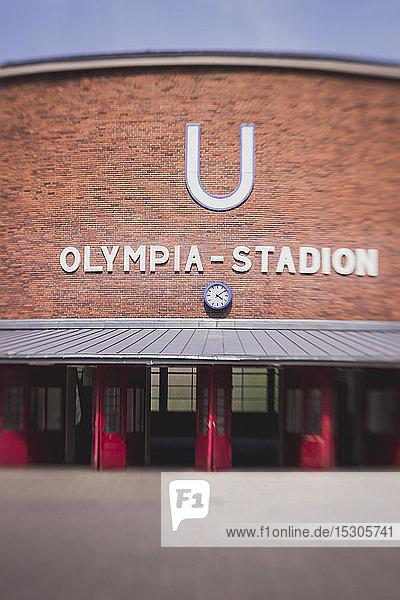 Germany  Berlin  underground station Olympic Stadium