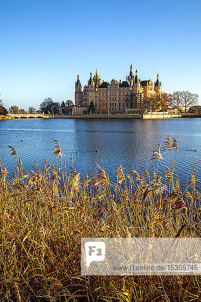 Germany  Schwerin  Schwerin Palace on Lake Schwerin