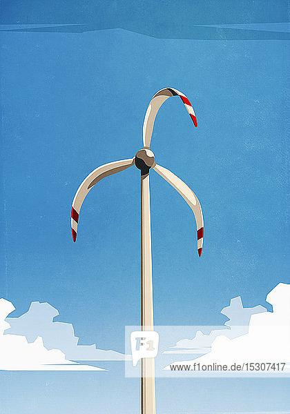 Geschmolzene Windkraftanlage