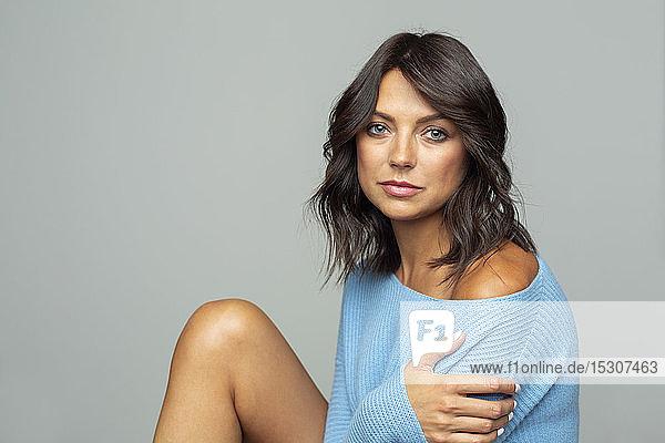 Portrait confident  sensual woman