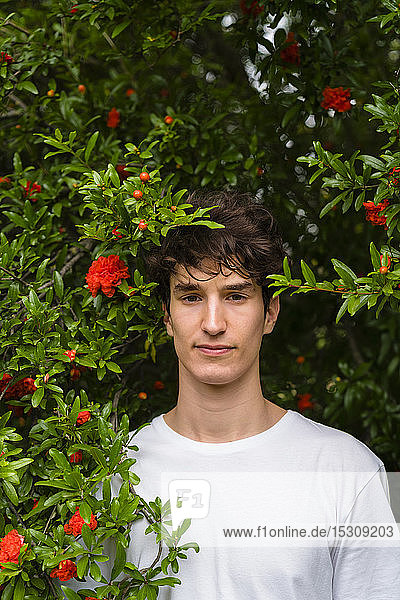 Portrait of young man in the park