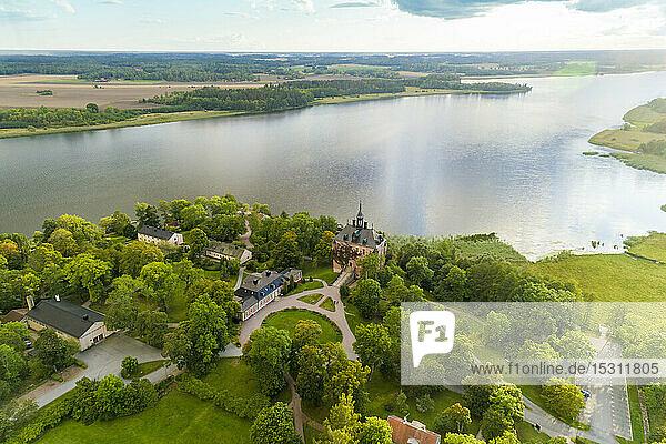 Schloss Vik am See Mälaren  Uppsala  Schweden