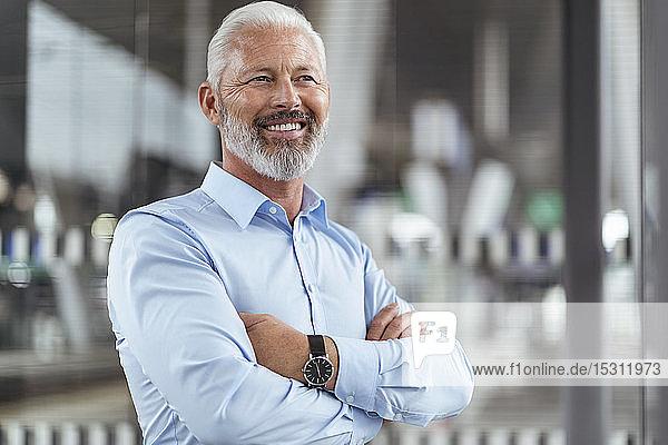 Porträt eines lächelnden reifen Geschäftsmannes