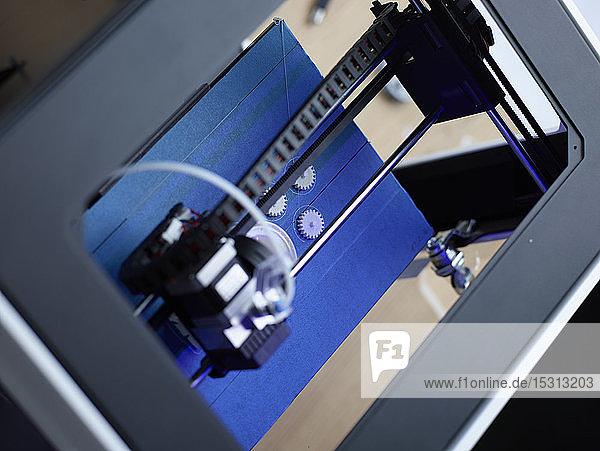 Detail eines 3D-Druckers