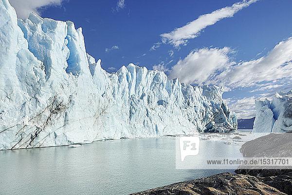 Front of Perito Moreno Glacier  Canal de los Tempanos  Los Glaciares National Park  Patagonia  Argentina