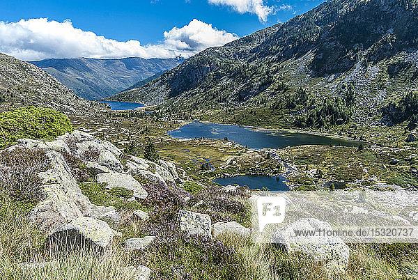 France  Pyrenees Ariegeoises Regional Nature Park  Bassies lakes  GR 10