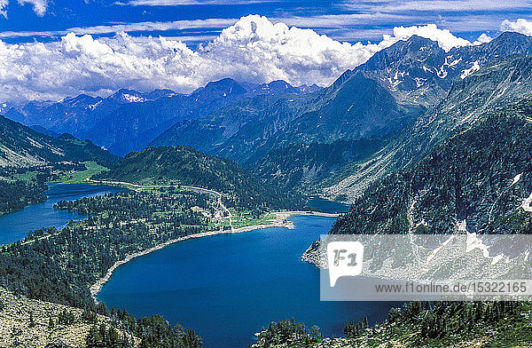 France  Pyrenees National Park  Aure valley  Neouvielle natural reserve  Aumar and Aubert lakes.