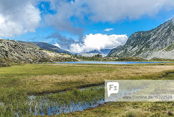 France  Pyrenees Ariegeoises Regional Nature Park  Bassies lakes  GR 10