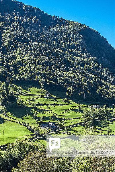 France  Pyrenees National Park  Hautes-Pyenees  mountain landscape on the route du Tounalet after Luz-St-Sauveur