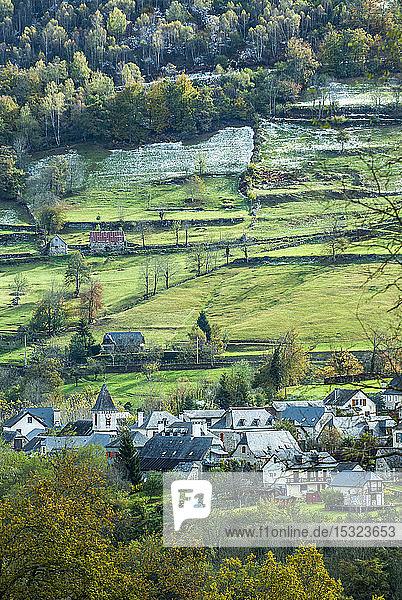 France  Pyrenees National Park  Val d'Azun  Bun village