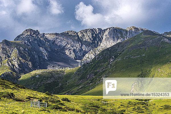 France  Hautes-Pyrenees  col de la Hourquette d'Ancizan (1564 meters high)  between the Vallee d'Aure and the Vallee de Campan  pastoral zone