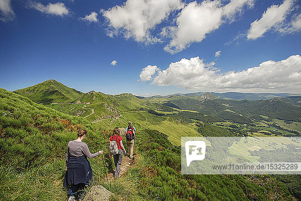 Auvergne - Cantal - The Cantal mountains - Hiking to the Puy Mary.