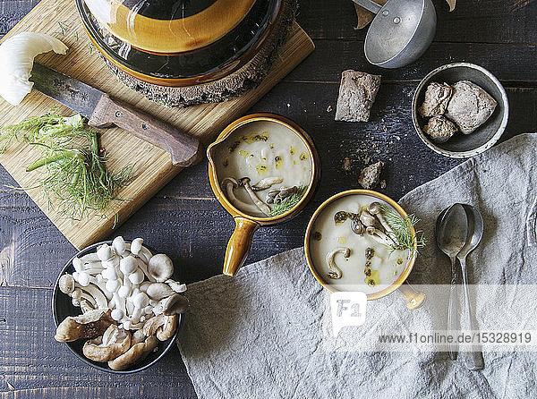 Tasty mushroom cream