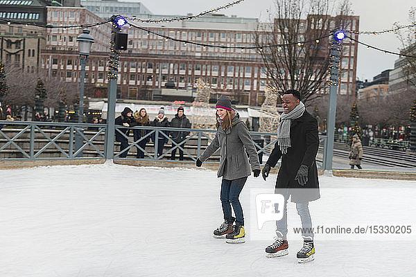Couple ice skating Couple ice skating