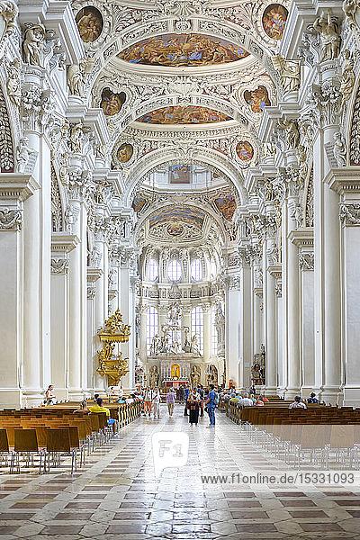 Interior of church in Passau  Germany Interior of church in Passau, Germany
