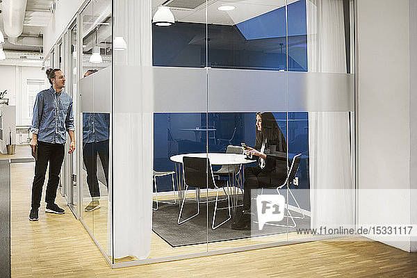 Businesswoman in meeting room
