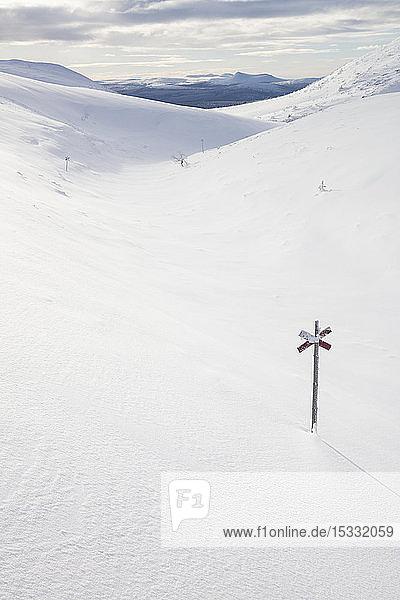 Marker in snow