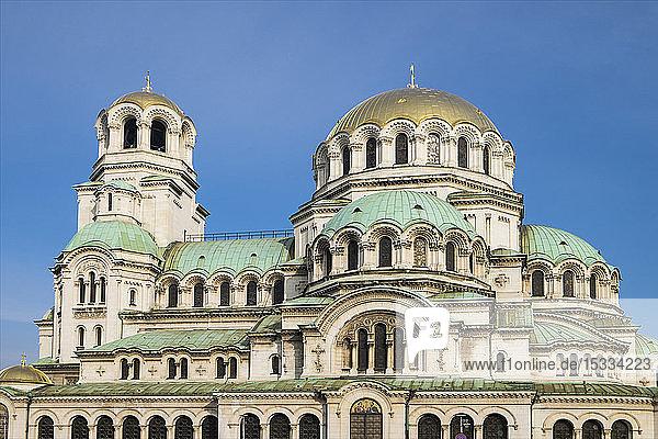 Bulgaria  Sofia  Cathedral church Alexander Nevski in the center of the Bulgarian capital Sofia