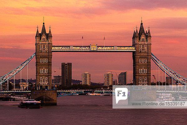 Tower Bridge over Thames River