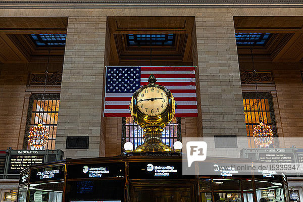 Clock in Grand Central station
