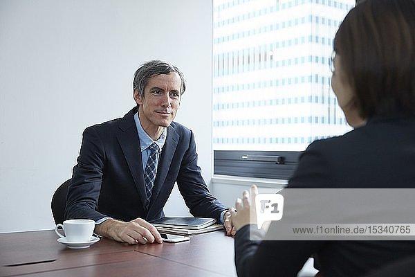 Multi-ethnic business people having meeting