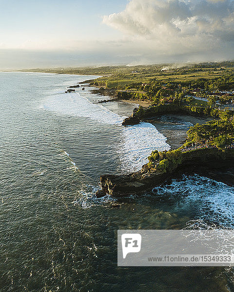 Aerial view from Tanah Lot Temple  Bali  Indonesia  Southeast Asia  Asia