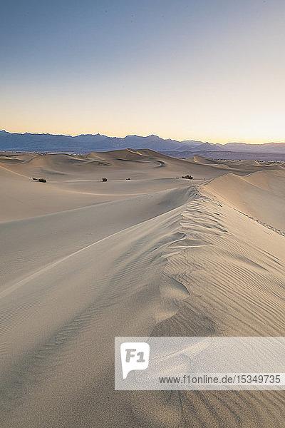 Mesquite Flat Sanddünen im Death Valley National Park  Kalifornien  Vereinigte Staaten von Amerika  Nordamerika