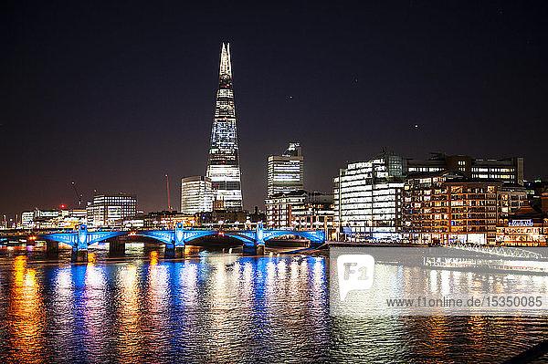 The Shard at night  London  England  United Kingdom  Europe