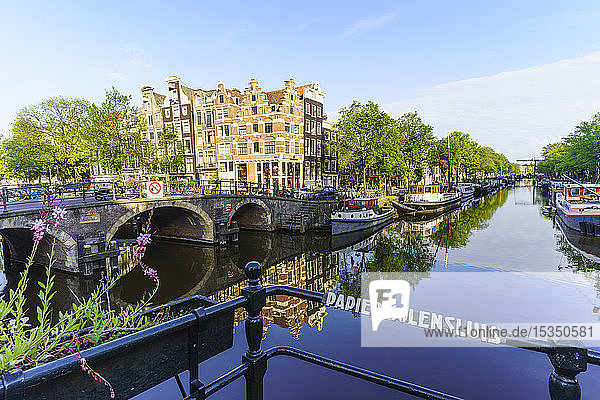 Brouwersgracht Canal  Amsterdam  North Holland  The Netherlands  Europe