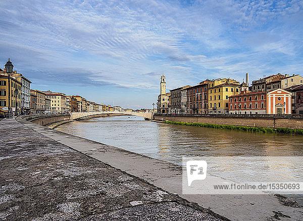 Arno River  Pisa  Tuscany  Italy  Europe