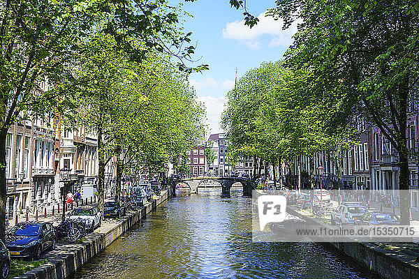 Leidsegracht canal  Amsterdam  North Holland  The Netherlands  Europe