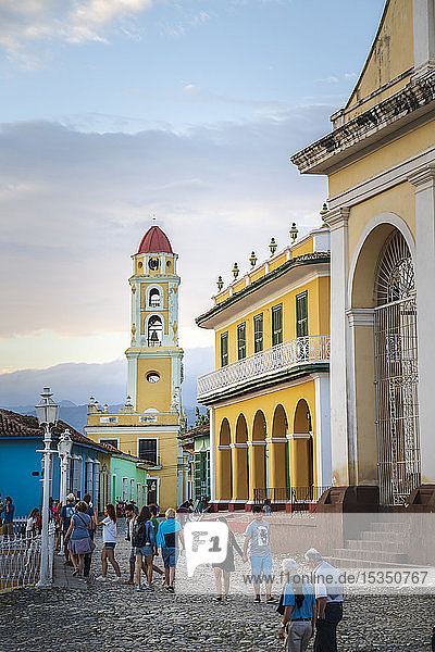 View of Bell Tower and street in Trinidad  UNESCO World Heritage Site  Sancti Spiritus  Cuba  West Indies  Caribbean  Central America