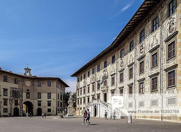 Palazzo della Carovana  Piazza dei Cavalieri (Knights' Square)  Pisa  Tuscany  Italy  Europe