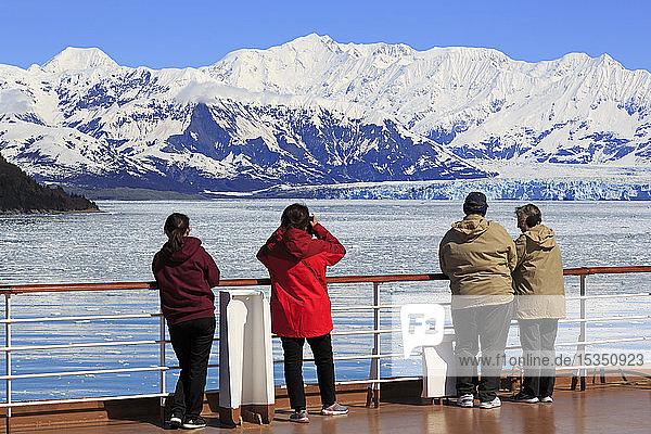Cruise Ship  Hubbard Glacier  Disenchantment Bay  Alaska  United States of America  North America