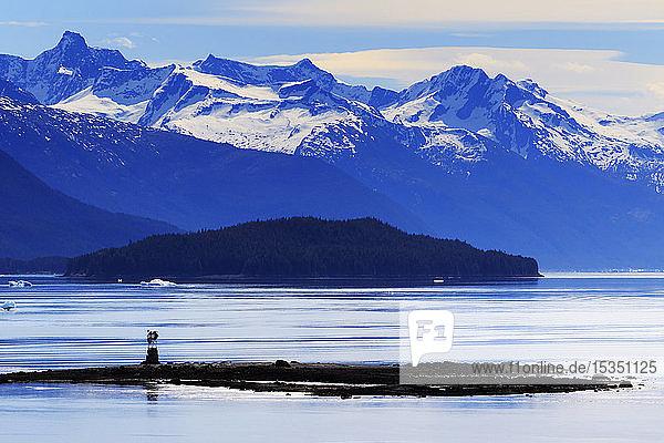 Wood Spit Light  Endicott Arm  Holkham Bay  Juneau  Alaska  United States of America  North America
