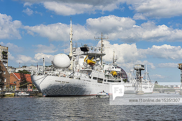 Exhibition ship in the World Ocean Museum  Kaliningrad  Russia  Europe