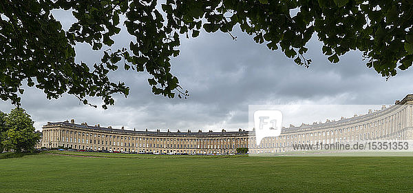 The Royal Crescent in Bath  UNESCO World Heritage Site  Somerset  England  United Kingdom  Europe